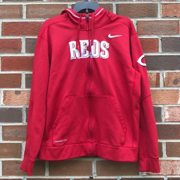 innovative design a50db 9d15e MLB Cincinnati Reds Nike hoodie size M